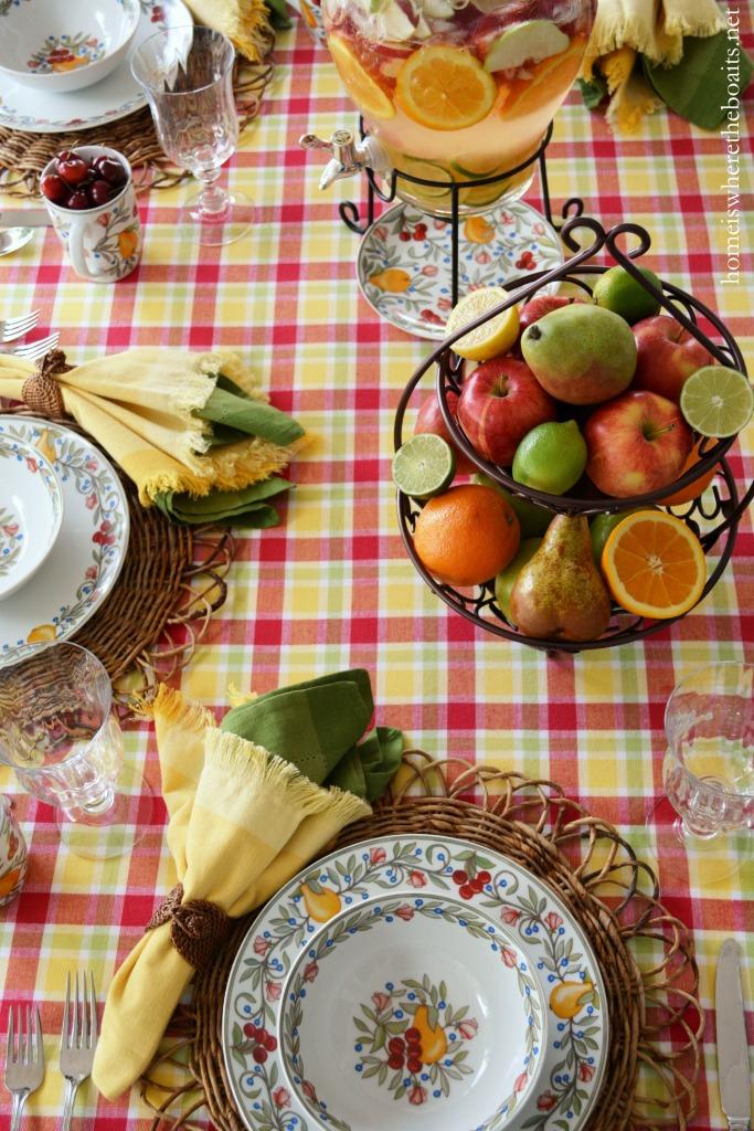 A Fruit-Bearing Table with Pfaltzgraff Orchard Grove – Home is Where ...