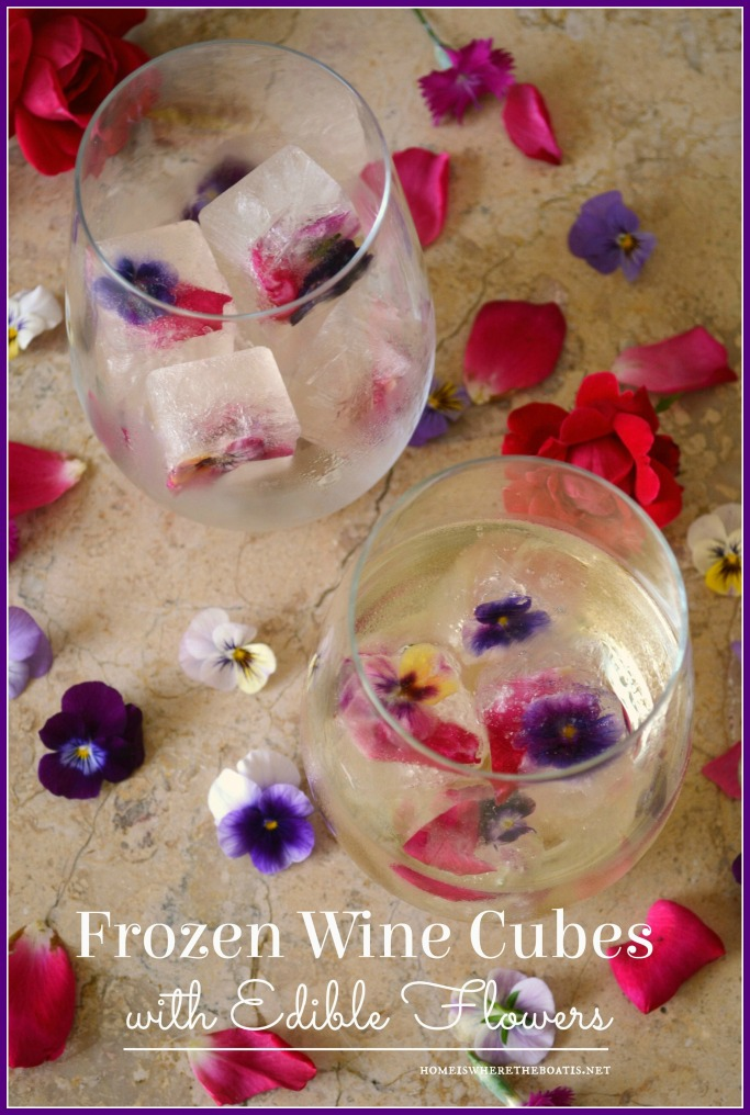 Frozen Wine Cubes with Edible Flowers-002