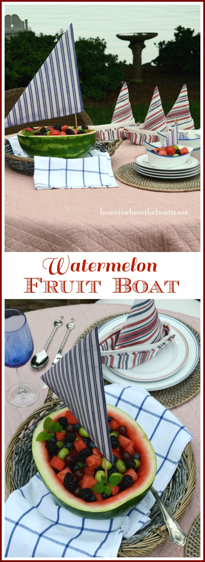 watermelon fruit boat border