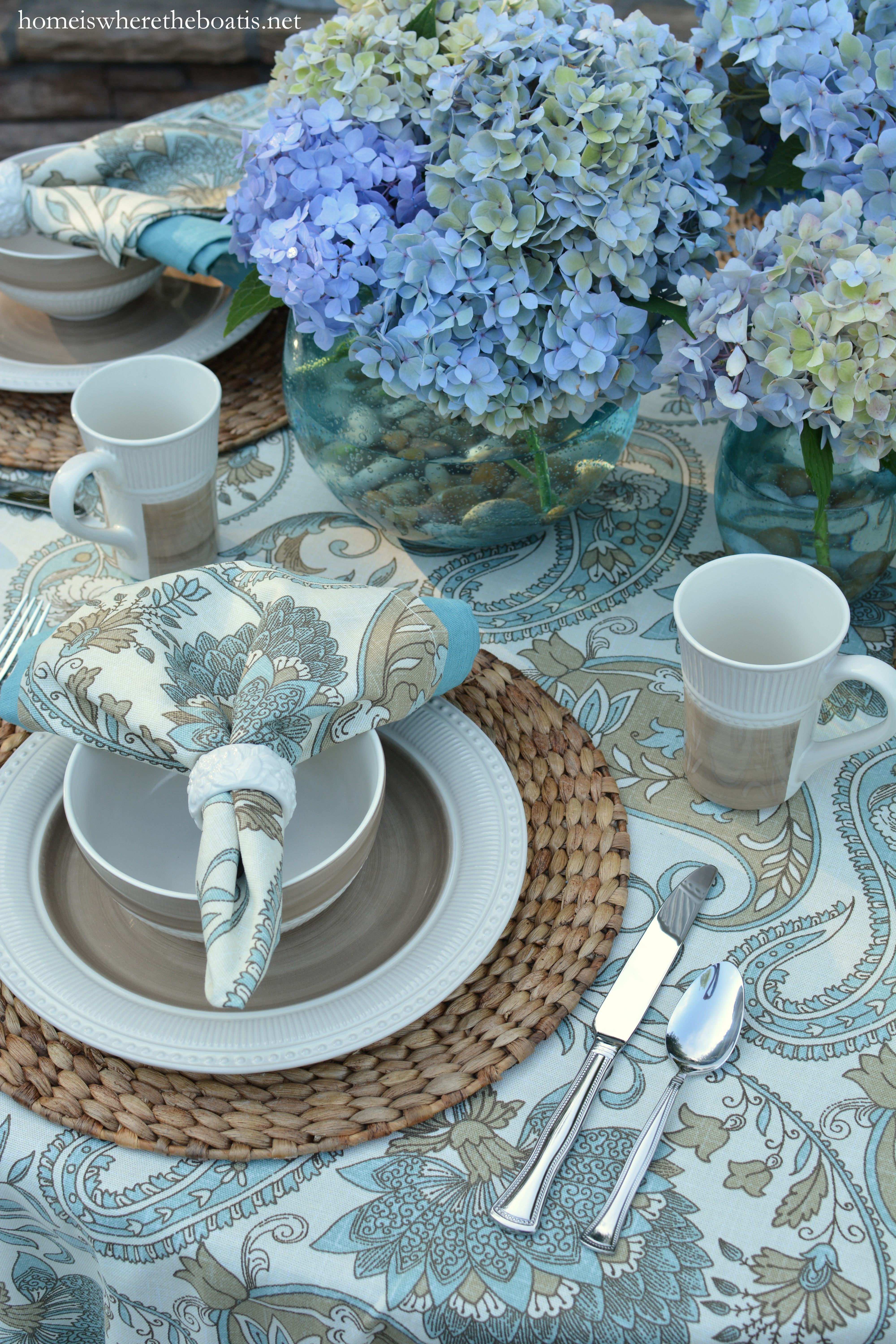 At The Table Modern Country Style And Mikasa Magnolia