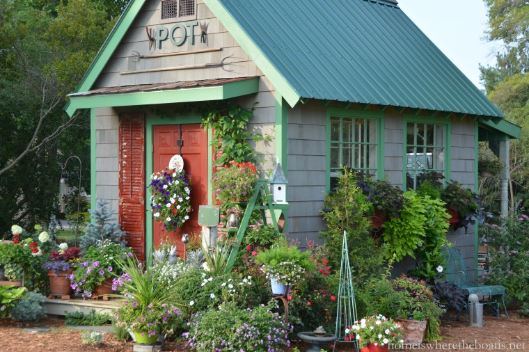 Dressing Up The Potting Shed With Vintage Garden Tools