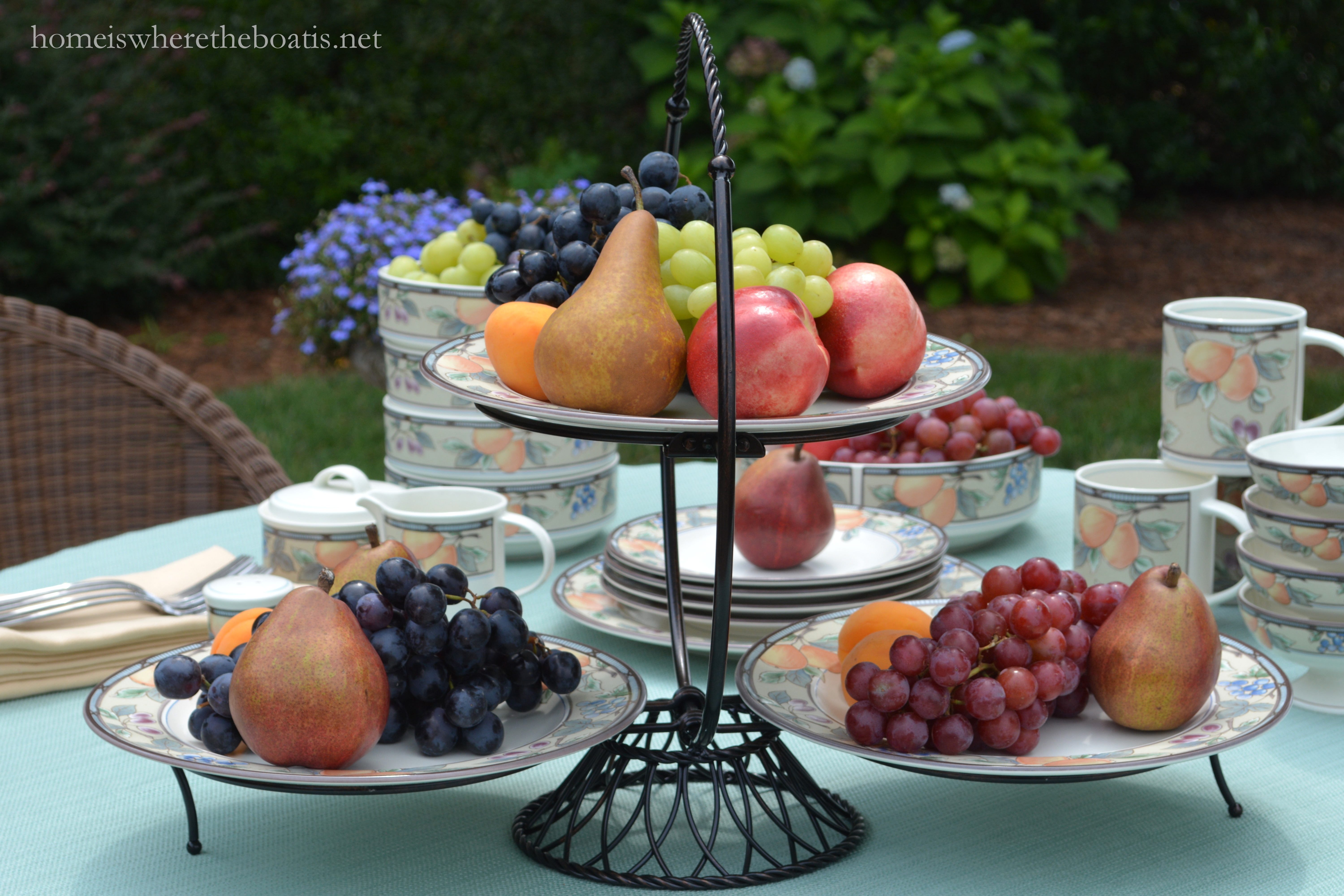 At The Table A Harvest Of Fruit And Mikasa Garden Harvest