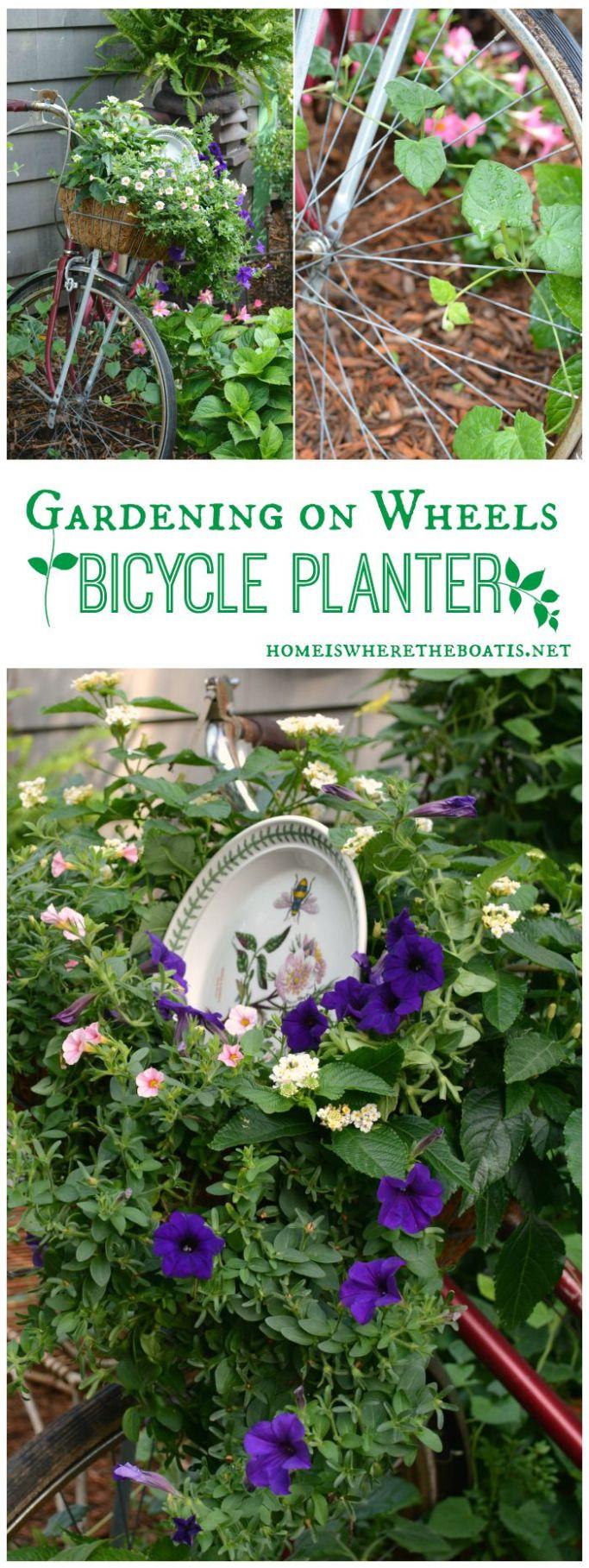 Gardening on Wheels Bicycle Planter