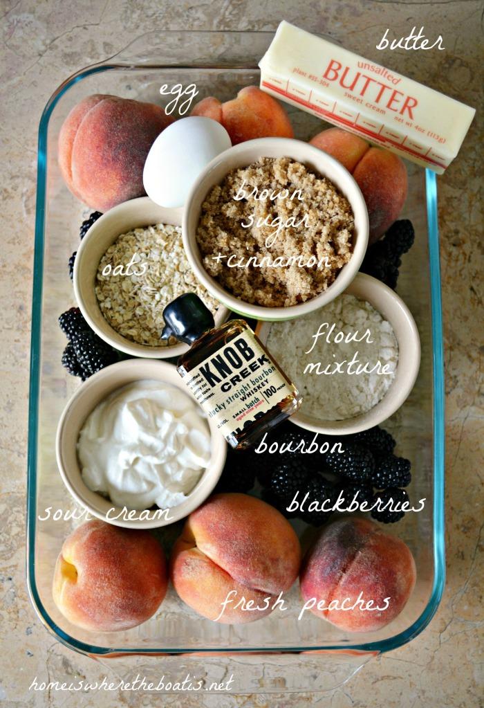 Peach-Blackberry Cobbler Bar Ingredients