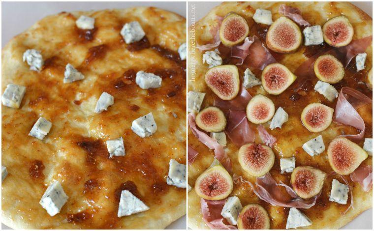 Fig, Blue Cheese, Prosciutto Pizza-001