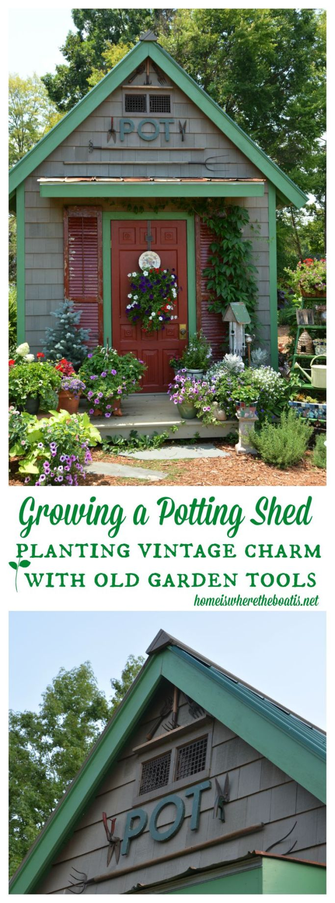 Dressing up the potting shed with vintage garden tools home is growing a potting shed planting vintage charm with old garden tools workwithnaturefo
