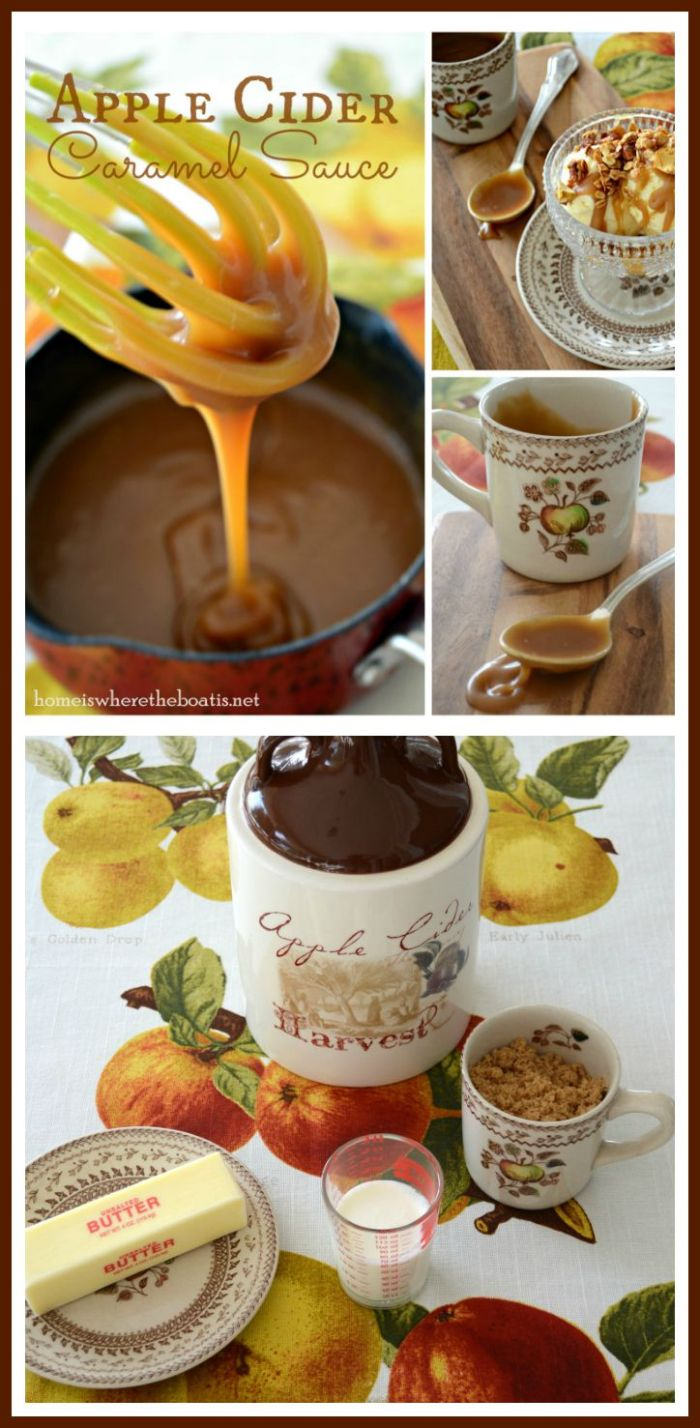 Apple Cider Caramel Sauce Easy and oh so good! | homeiswheretheboatis.net #fall #apple #recipes