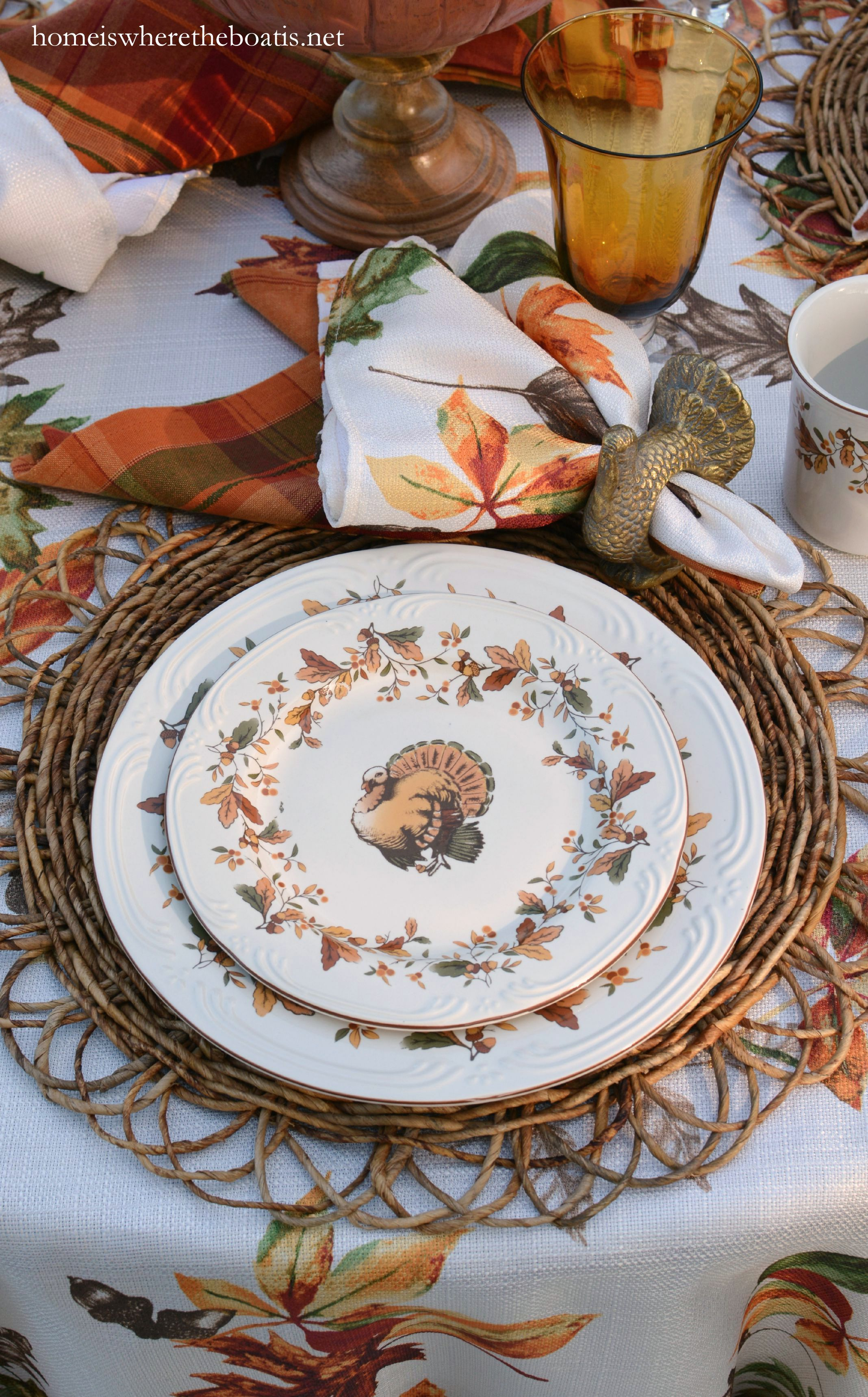 DSC_7279-001 & Scattered Leaves Turkeys and Pfaltzgraff Autumn Berry Dinnerware ...
