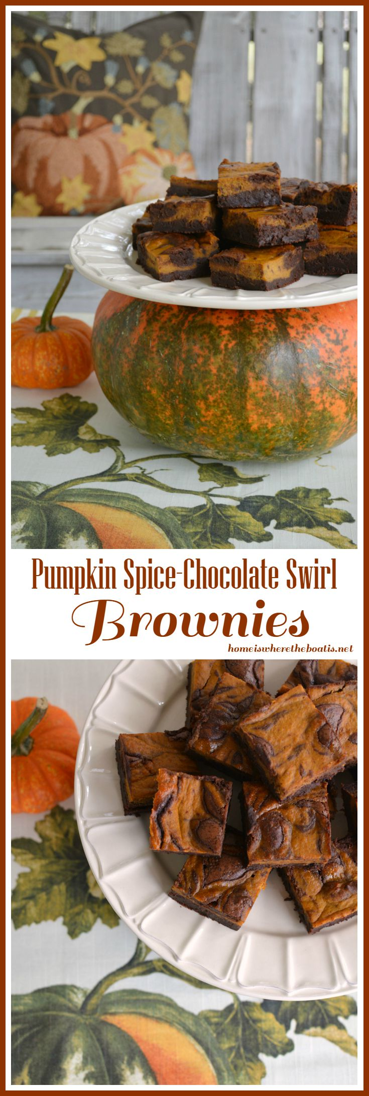 these pumpkin spice chocolate swirl brownies and celebrate pumpkin ...