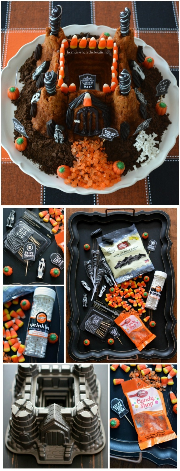 Create a Haunted Castle Bundt Cake