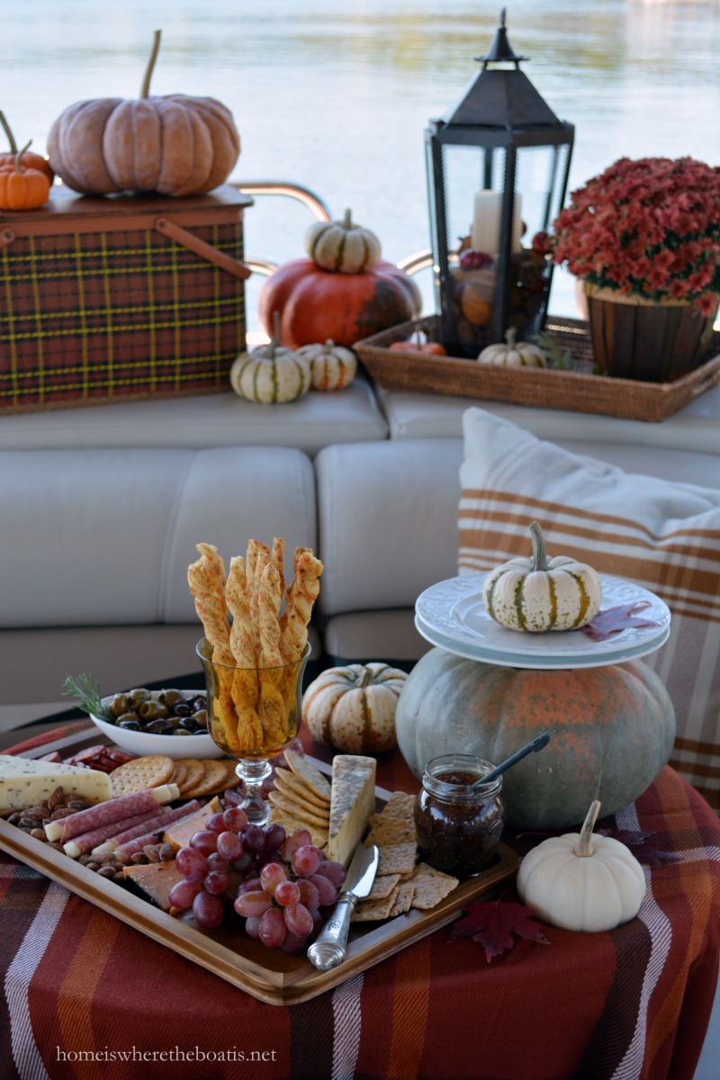 A Fall Pontoon Picnic