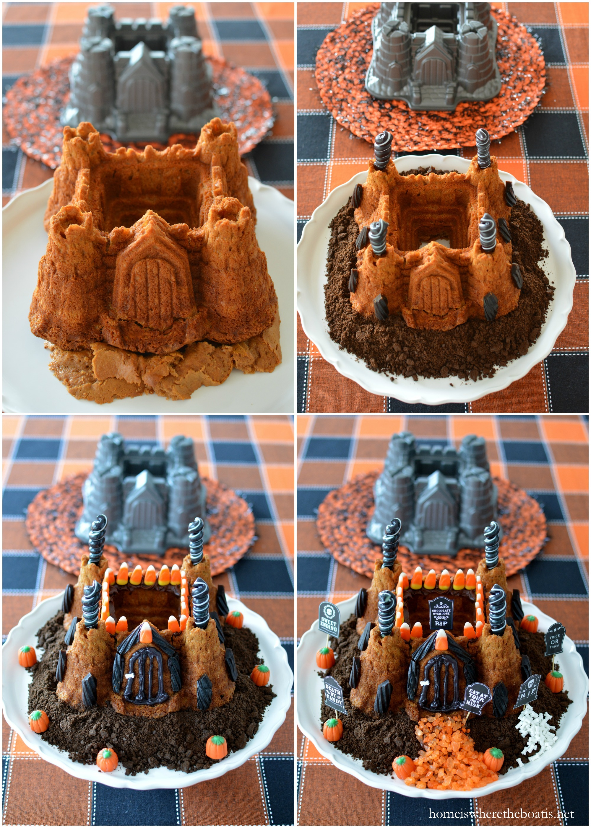 Castle Bundt Cake Decorating