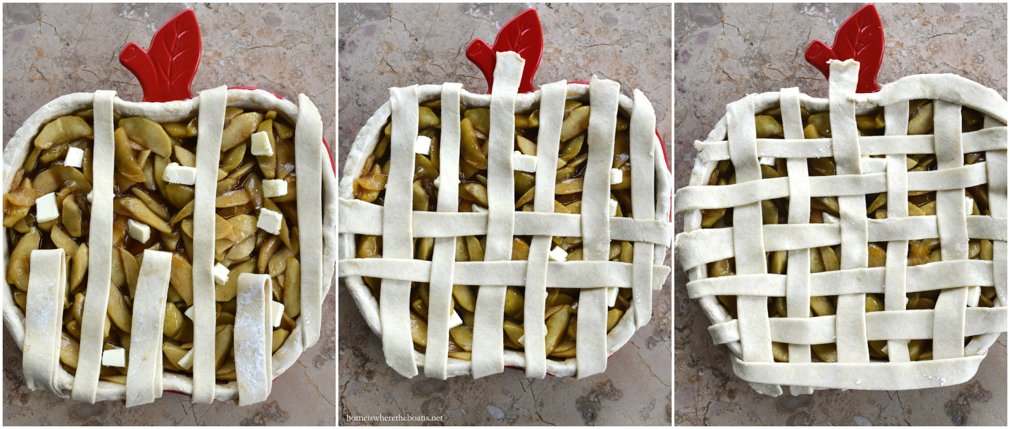Apple Pie with Cream Cheese Lattice-Topped Crust – Home is Where the ...