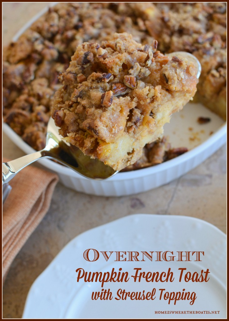 Overnight Pumpkin French Toast with Streusel Topping