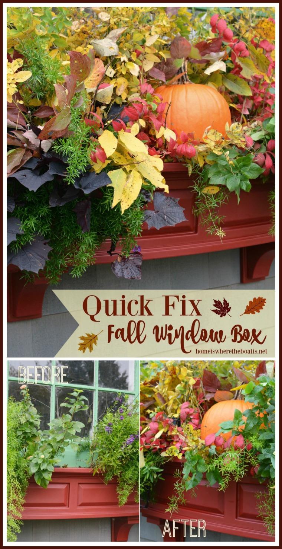 Quick Fix for a Fall Window Box