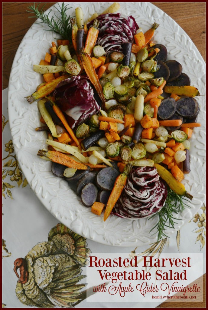 Roasted Harvest Vegetable Salad with Apple Cider Vinaigrette
