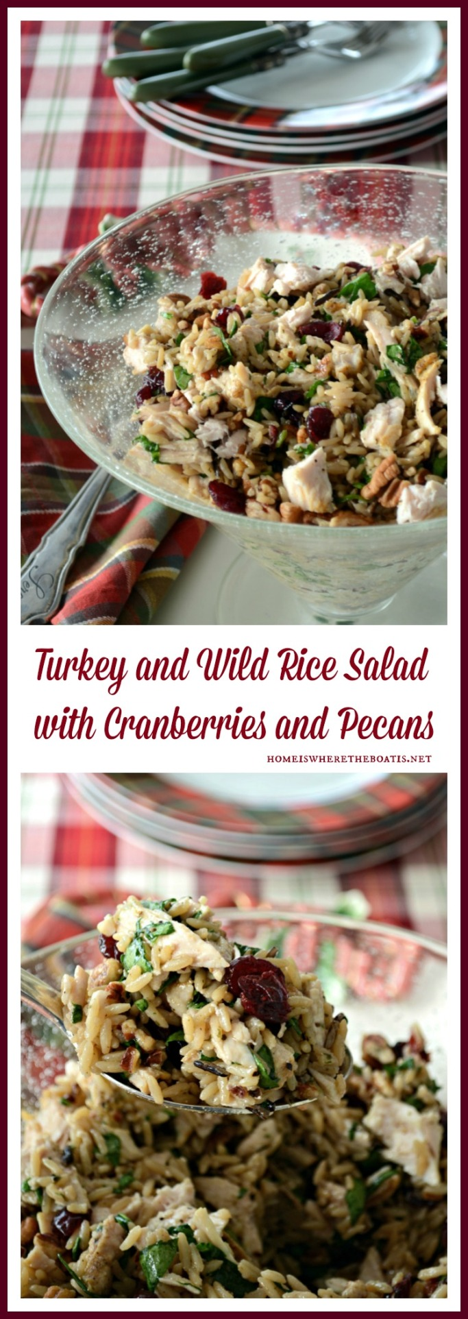 Turkey and Wild Rice Salad with Cranberries and Pecans
