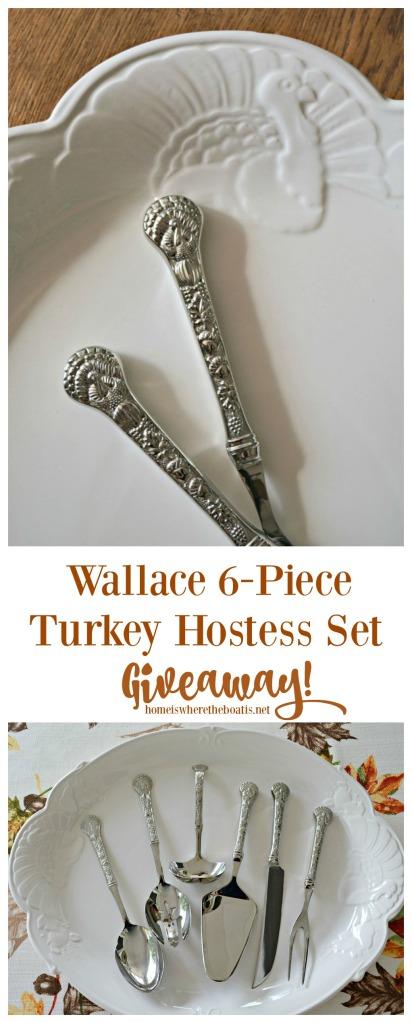 Wallace 6-Piece Turkey Hostess Set Giveaway