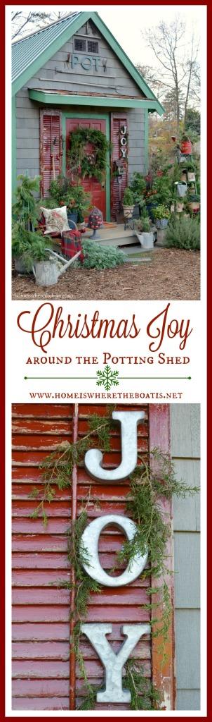 Christmas Joy Around the Potting Shed