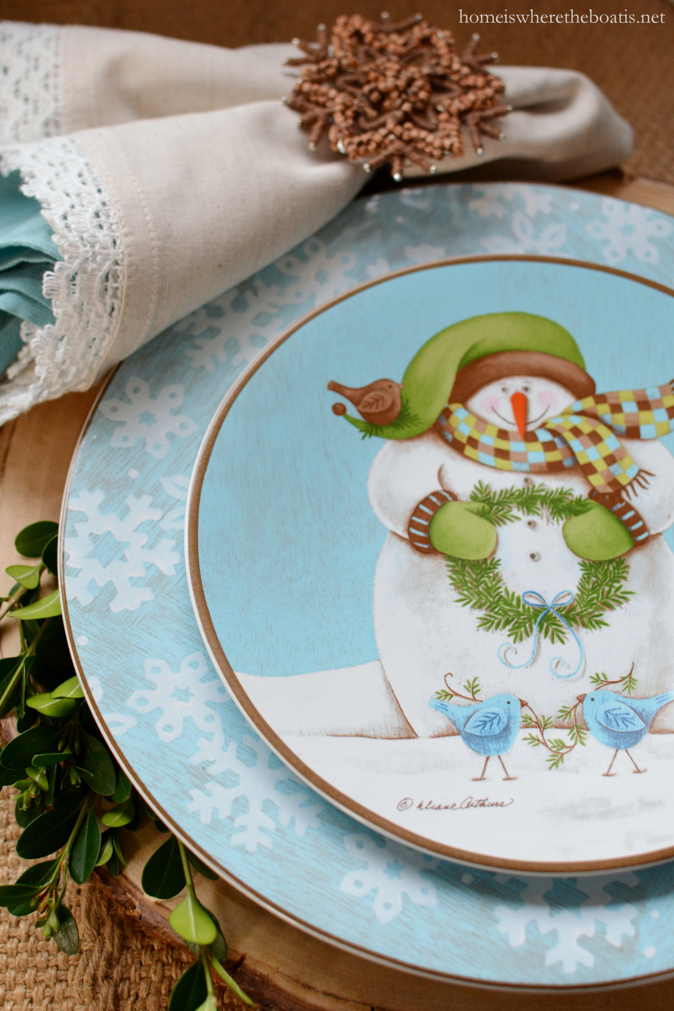 In the Potting Shed Dining with Snowmen and Evergreen Ernie Dinnerware & In the Potting Shed: Dining with Snowmen and Evergreen Ernie ...
