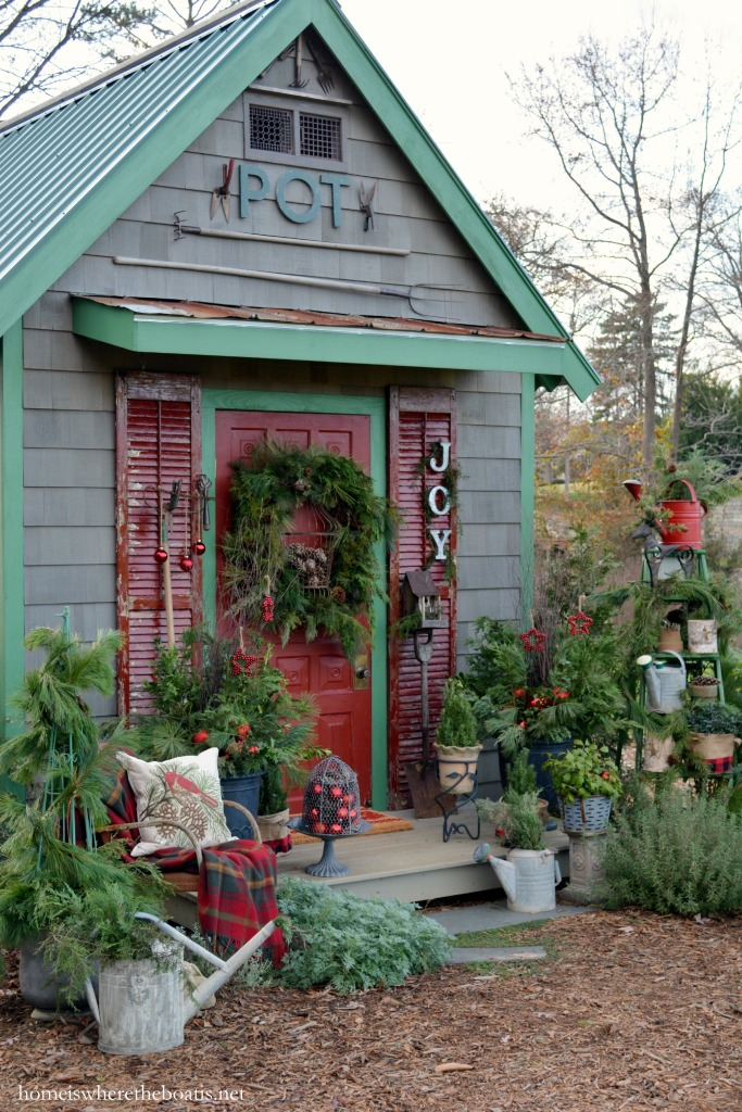 Adding Christmas Joy To The Potting Shed Home Is Where