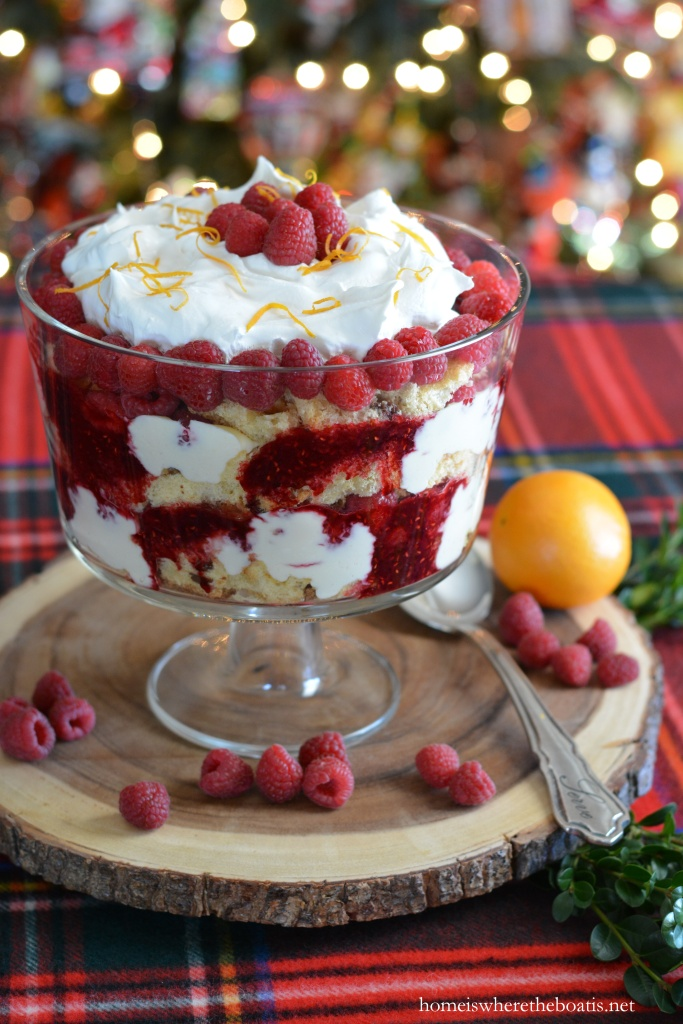 Panettone Trifle With Orange Curd And Raspberries Home Is Where