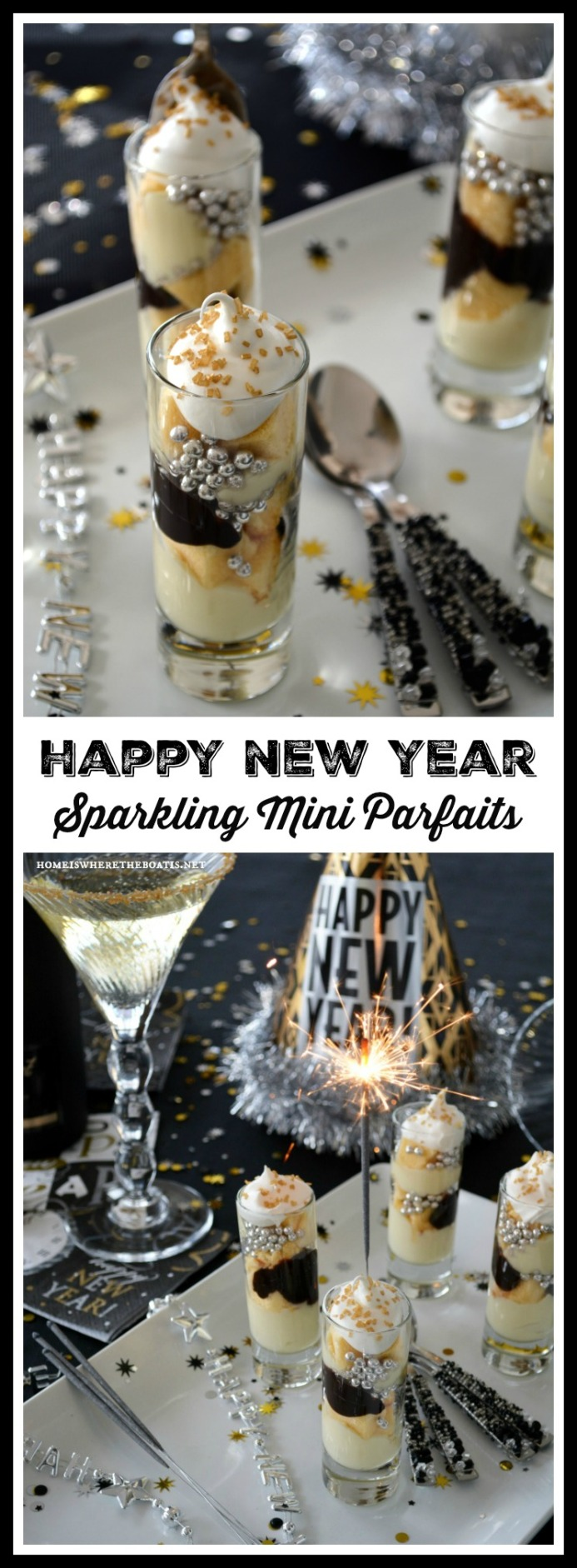 Happy New Year Sparkling Mini Parfaits