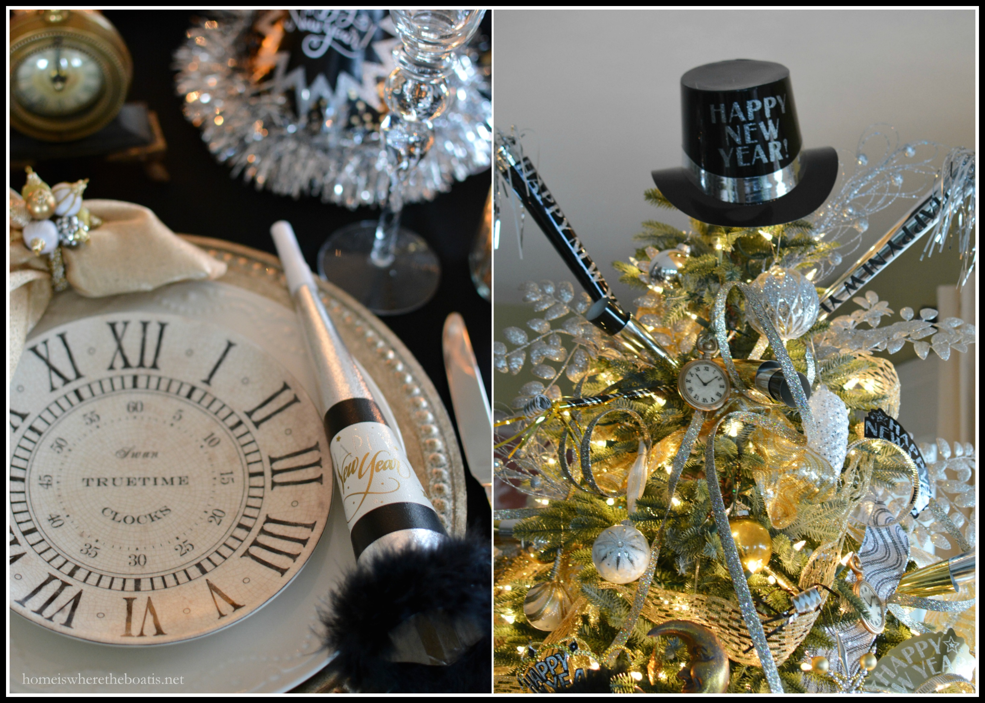 New year s celebration with a countdown table and tree for Table 52 new years eve