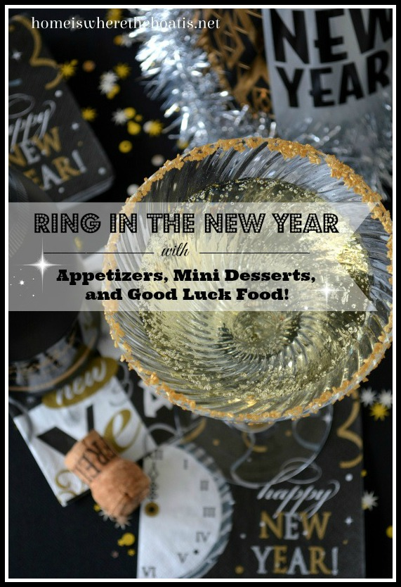 Ring in the New Year with Appetizers, Mini Desserts and Good Luck Food!