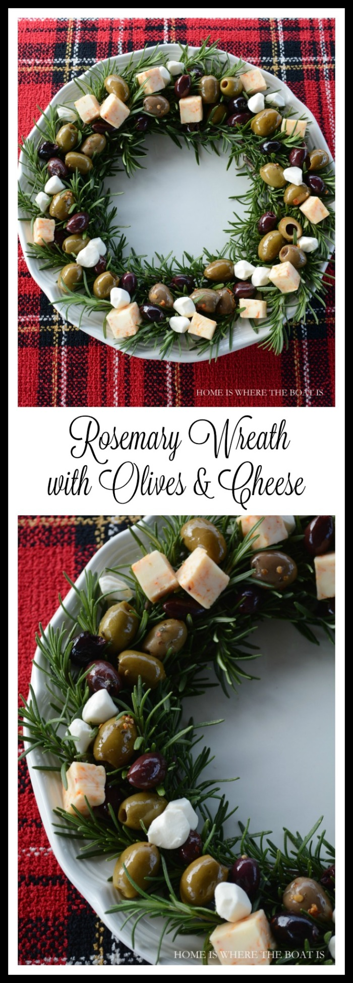Rosemary Wreath with Olives & Cheese