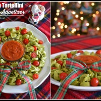 10 Minute Appetizer: Spinach Tortellini Christmas Wreath!