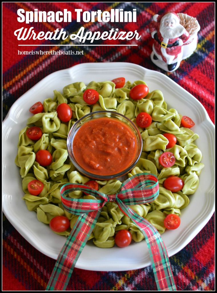 Spinach Tortellini Wreath Appetizer