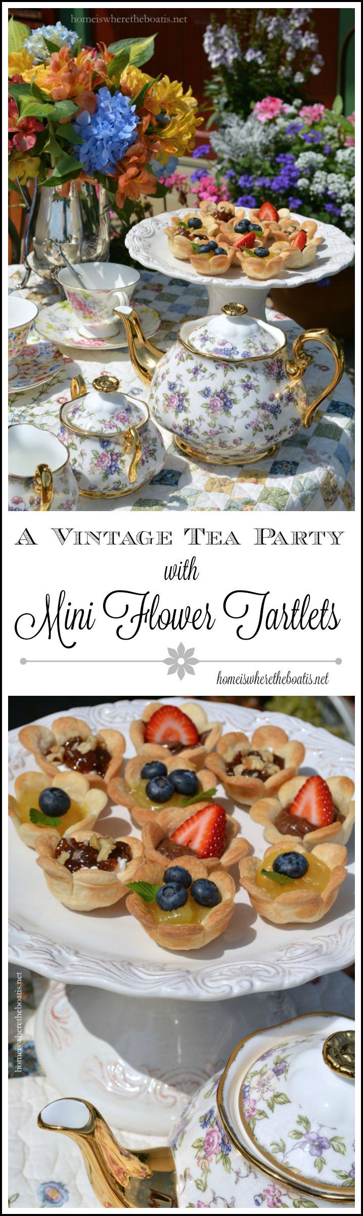 A Vintage Tea Party and Mini Flower Tartlets
