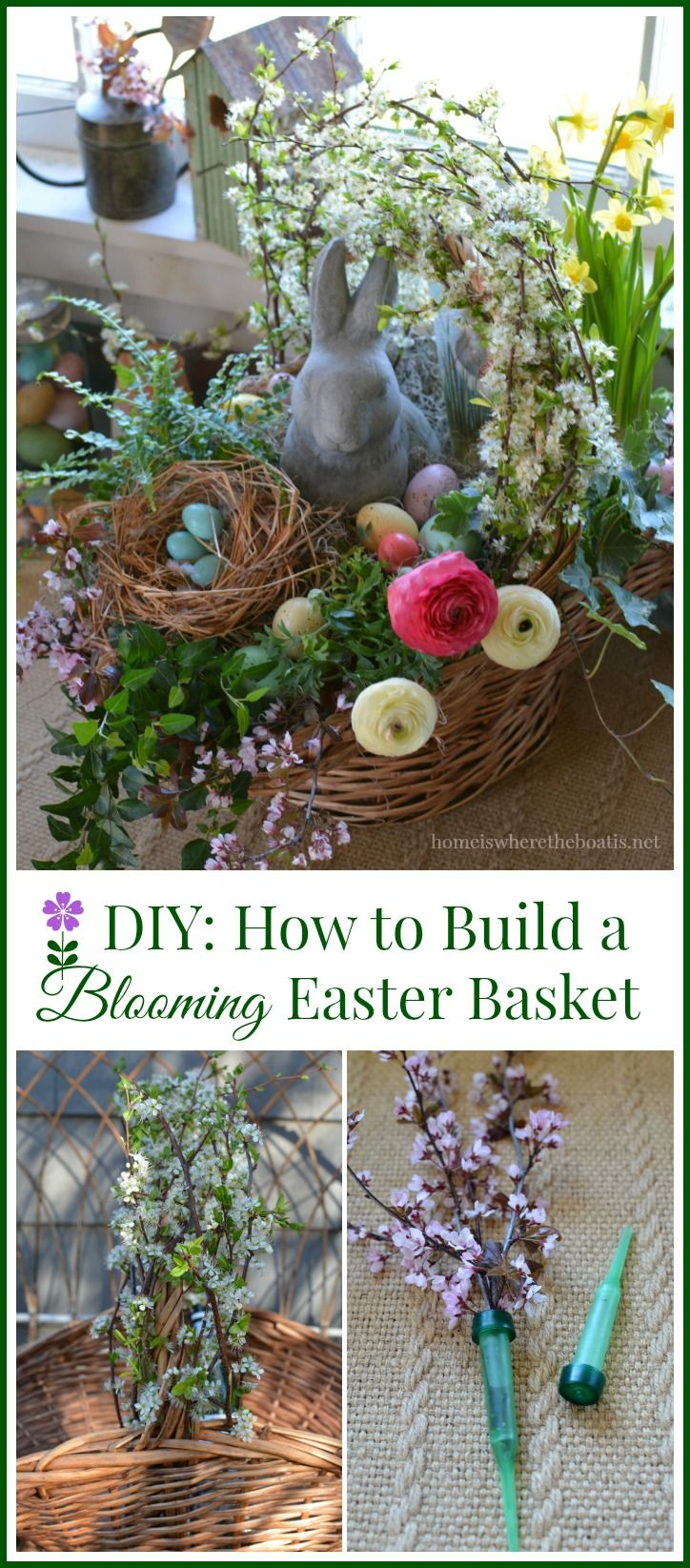 Blooming Easter Basket DIY