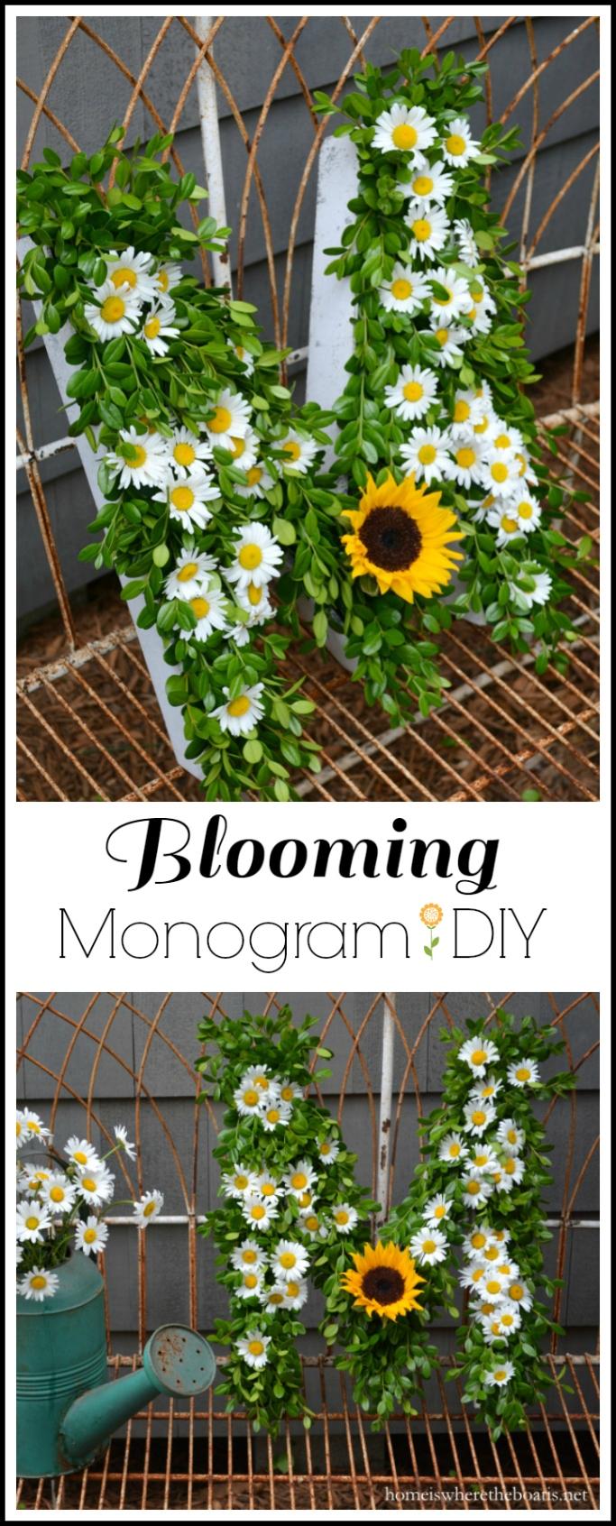 Blooming Monogram DIY