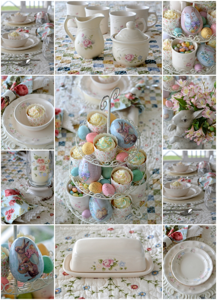 Easter Table and Pfaltzgraff Tea Rose