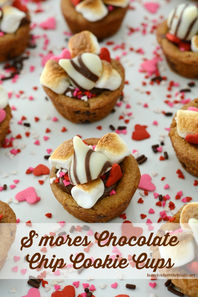 S'mores Chocolate Chip Cookie Cups