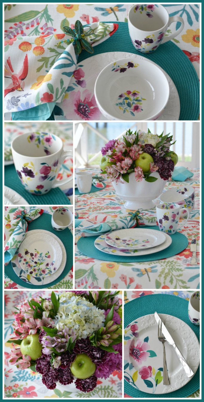 Flower Therapy for the Table and Meadow Violets by Mikasa