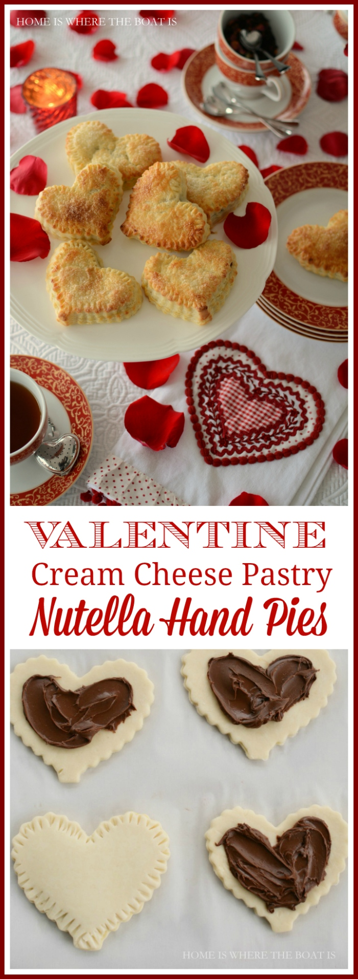 Valentine Cream Cheese Pastry Nutella Hand Pies