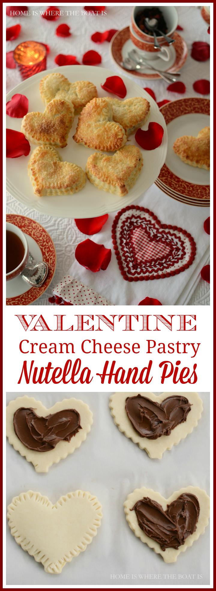 Valentine Cream Cheese Pastry Nutella Hand Pies