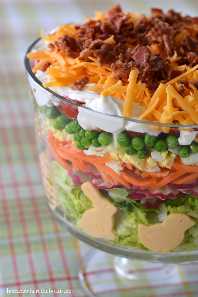 Layered spring salad for easter home is where the boat is seven layer salads were popular in the south in the 70s and 80s at potlucks and church socials and have recently started to make a comeback negle Images