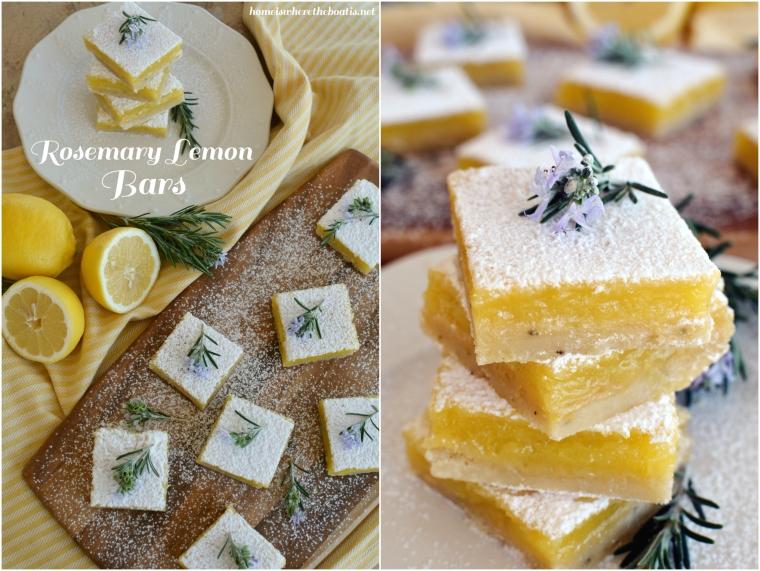Rosemary Lemon Bars