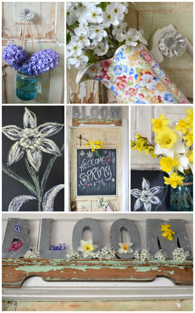 Welcome Spring Chalkboard Door