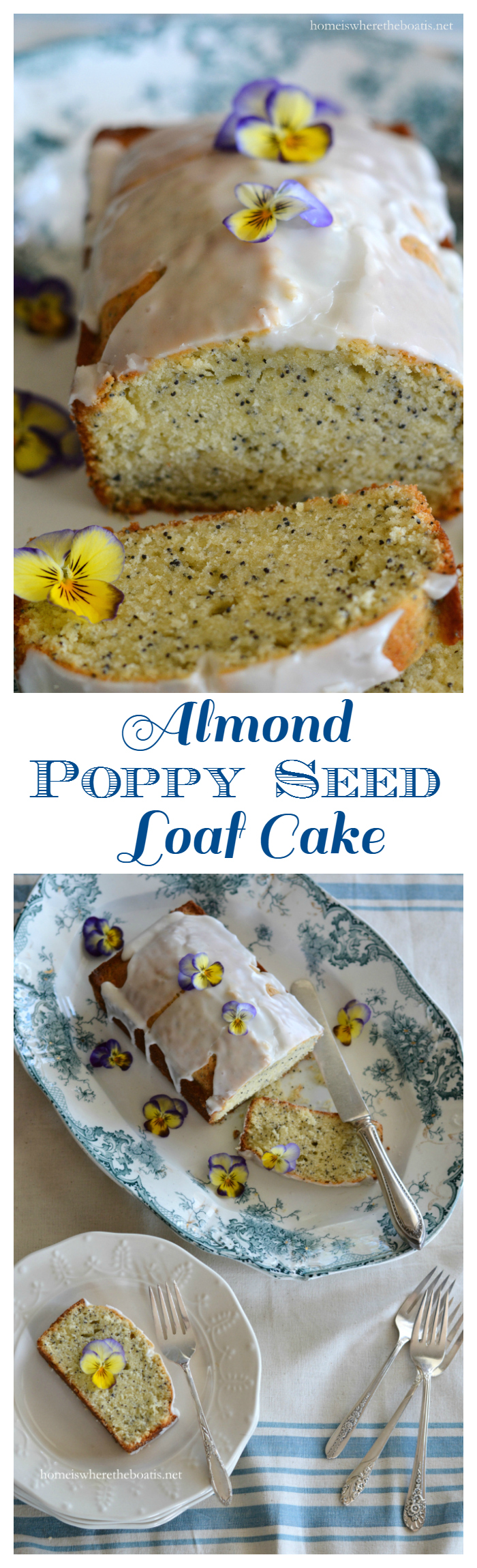 Almond Poppy Seed Loaf Cake