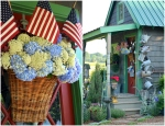 Potting Shed Door Basket with Flags