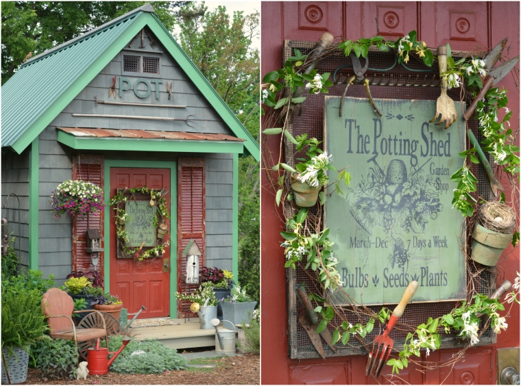 Planting Puttering And Potting Shed Sign Home Is Where
