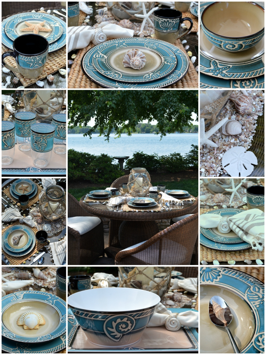 Beach Themed Table For Summer With Pfaltzgraff Montego