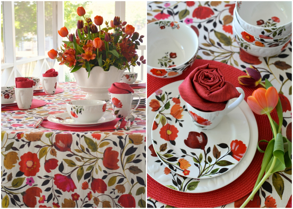 At The Table Vibrant Florals And Kim Parker Tulips Mikasa