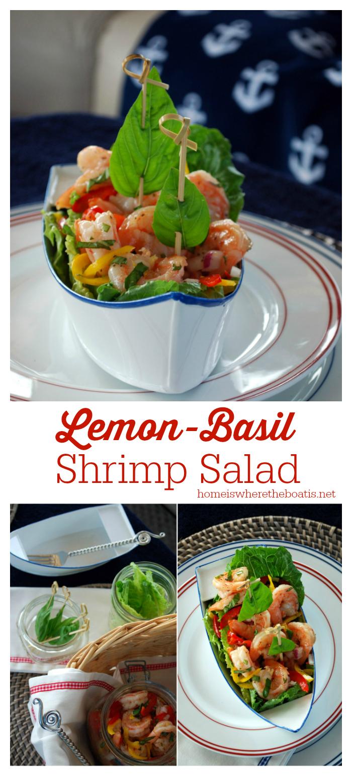 Lemon Basil Shrimp Salad