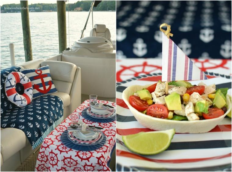 Nautical Pontoon and Salad Boats!